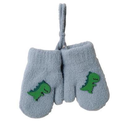 Baby Gloves Winter Plus Velvet Mittens Children Kids Double-layer Full Finger Gloves