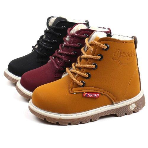 Children Warm Boys Sneaker Boots Kids Baby Casual Shoes Pu Leather Breathable Boot