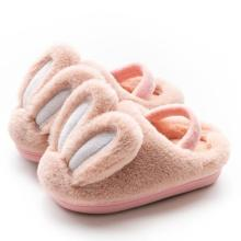 Kids Fluffy Slippers Plush Bunny Cotton Shoes Children Rabbit Home Slippers