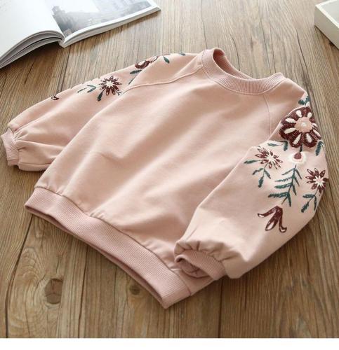 Girls Fashion Sequins Swan Sweater Children's Round Neck Sweater