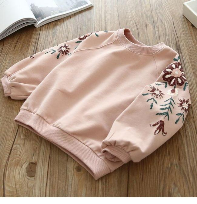 Girls Fashion Sequins Swan Sweater Children's Round Neck Sweater