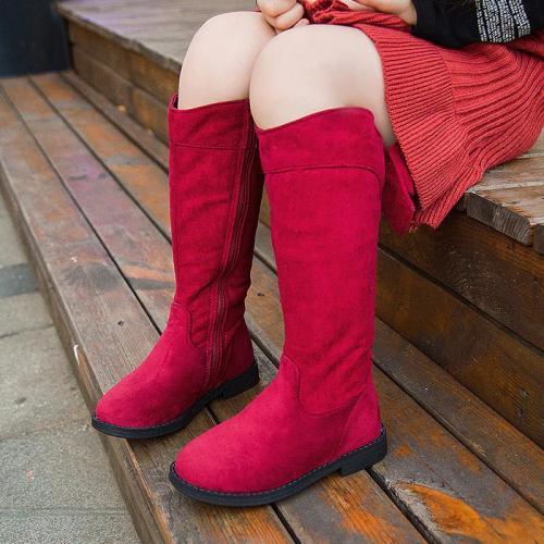 Sweet Knee High Tall Boots Kids Girls Lovely Bowknot Boots