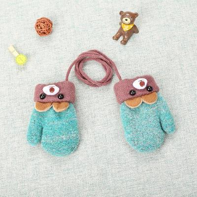 Children Cute Cartoon Gloves Baby Winter Thicken Velvet Mittens