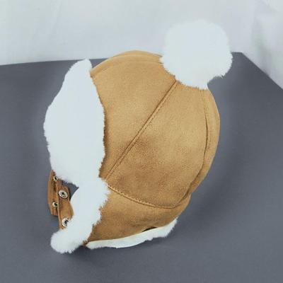 Baby Hat Kids Children Ear Flap Muff Winter Warm Plush Cotton Cap