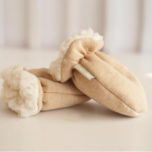 Cute Cartoon Thicken Warm Fleece Infant Baby Winter Warm Gloves Anti-Scratch Newborn Mittens