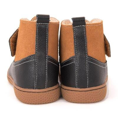 Children Toddler Snow Boots Boys Plush Genuine Leather Winter Boots Sneakers