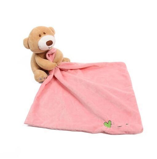Infant Baby Nursery Toddler Security Cartoon Soft Smooth Bath Animal Toy Blanket Towel