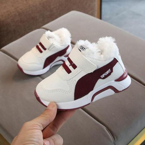 Winter Kids Sports Shoes Children Casual Boys Plush Sneaker Anti-Slippery