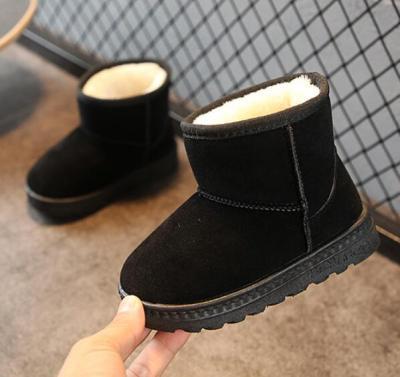 Winter Girls Snow Boots Thick Child Warm Plush Soft Short Boots Ski Boot