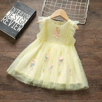 Princess Baby Girl Dress Party Birthday tutu Dress Lace Floral Baptism Wedding Dresses