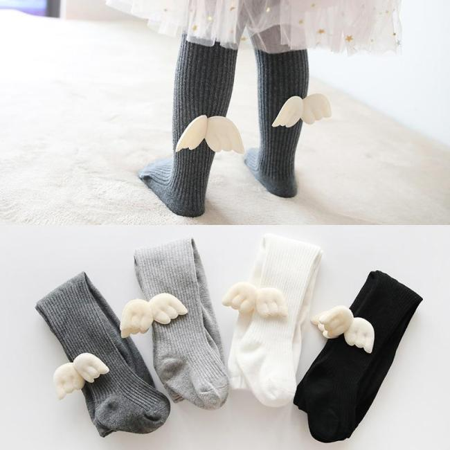 Baby Girls One-Piece Pantyhose Bowknot Stockings Child Angel's Wings Tights