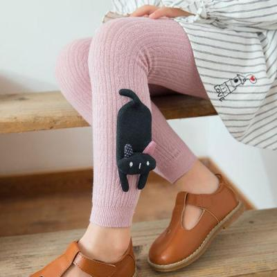 Cotton Girl Leggings Cute Animals Toddler Knitting Warm Thick Non-slip Leggings