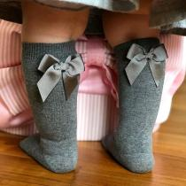 Baby Socks Knee High Cotton Spanish Style Big Bow Floor Socks