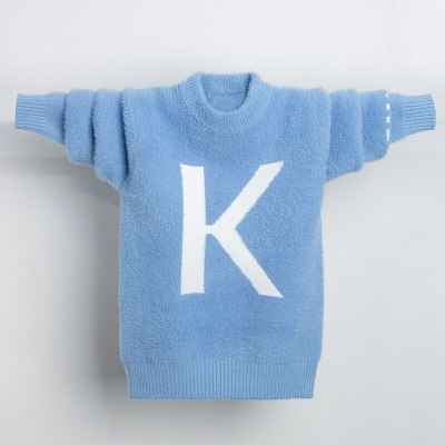Boys Sweater Velvet Casual Round Neck Children Boys Autumn and Winter
