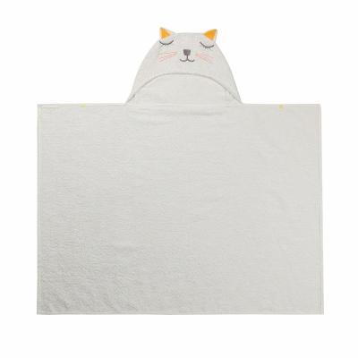 100% Cotton Kids Towel Hood Cotton Bathrobe Baby Towel