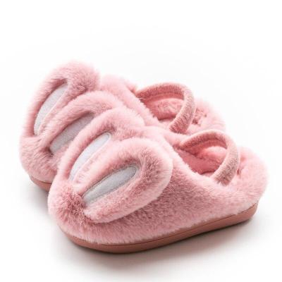 Kids Fluffy Slippers Plush Bunny Cotton Shoes Children Rabbit Home Slippers