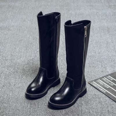 Kids Casual Shoes Fashion Mid Calf Snow Boots Genuine Leather Martin Boots