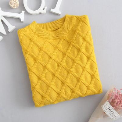 Girl Knitted Sweater Kids Solid Color Winter Pullover Sweaters