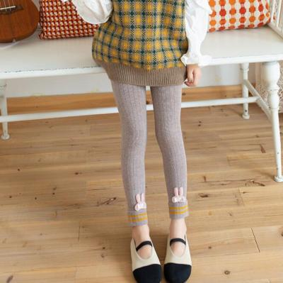 Girl Leggings Knitted Pants Autumn Winter High Waist Trousers for Kids