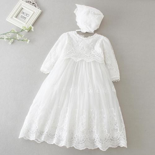 Baby Girls Dress Long Sleeve Kids First Birthday Ball Gown Infant Dresses 3-24 month