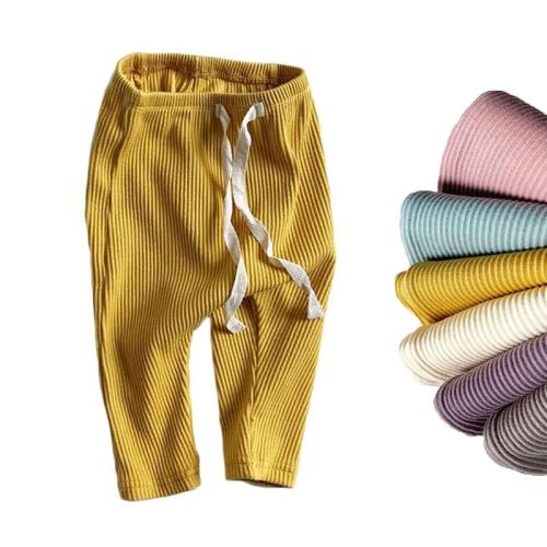 Baby Boys Solid Leggings Toddler Ribbed Pants