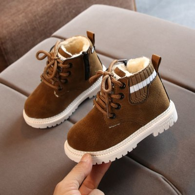 Toddler Infant Kids Baby Boys Warm Boots Lace Up Shoes Short Ankle Booties