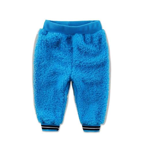 Baby Coral Fleece Long Pants Newborn Warm Clothes Boys Trousers