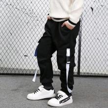 Boys Casual Sweatpants Teenage Multi-Pocket Fashion Long Pants