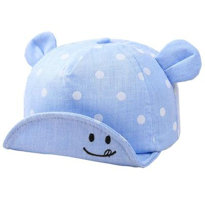 Children's Baby Polka Dot Embroidered Smiley Face Baseball Cap