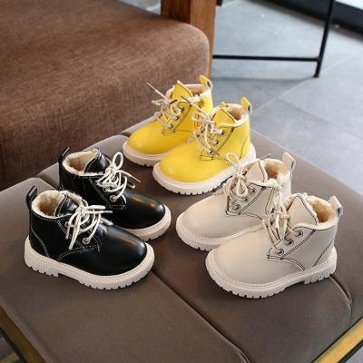 Children Shoes Girls PU Leather Short Boots Non-Slip Winter Martin Boot