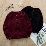 Toddler Baby Kid Girls Solid Sweater Knit Warm Coat Cardigan
