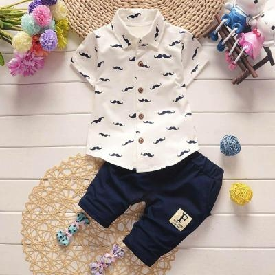Toddler Kids Baby Boys Beard T Shirt Tops and Shorts Pants Outfit Clothes Set