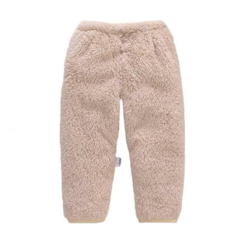 Newborn Baby Boys Pants Winter Warm Baby Pants Fleece Solid Newborn Pants
