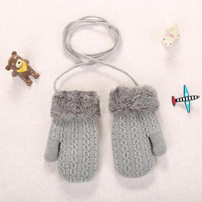 Baby Knitted Warm Gloves Infants Patchwork Outdoor Mittens Wool Gloves