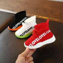 Children Casual Shoes for Boys Sneakers Breathable Anti-Slip Letter Print Shoe