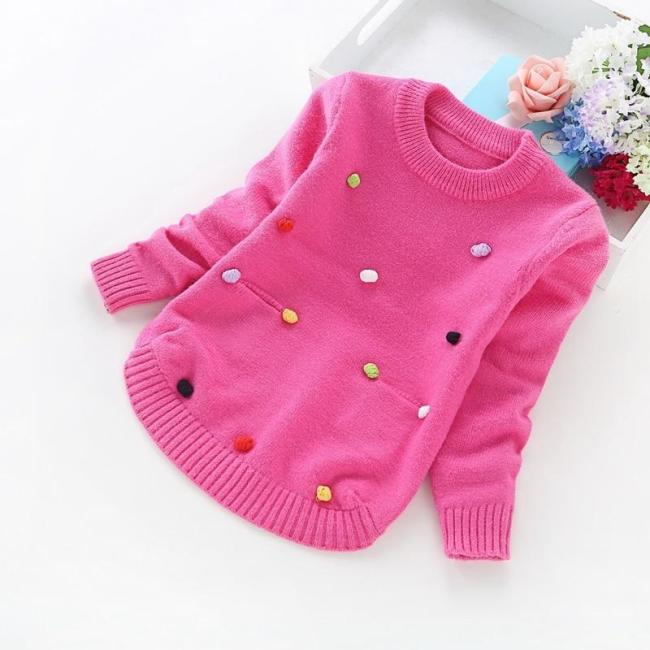 Winter Children Sweaters Girls' Casual Cotton Sweaters