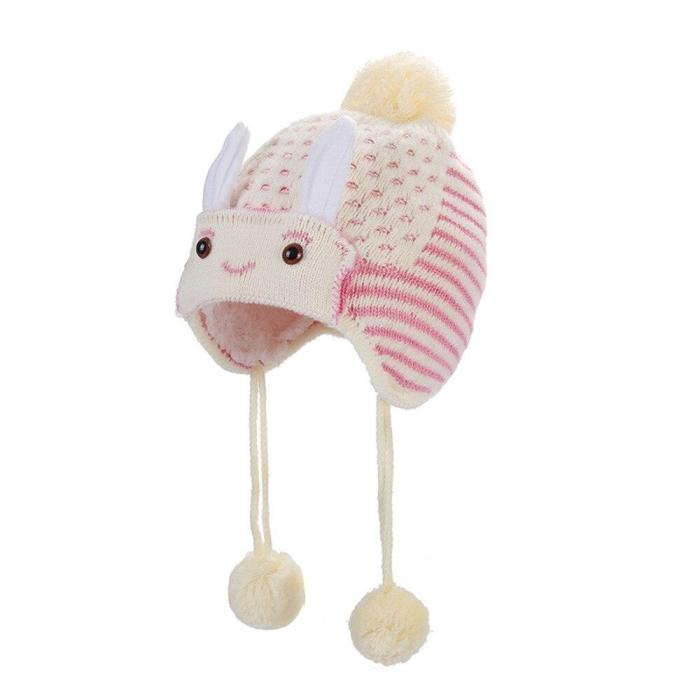 Children Baggy Warm Crochet Winter Wool Knit Ski Beanie Skull Slouchy Caps Hat