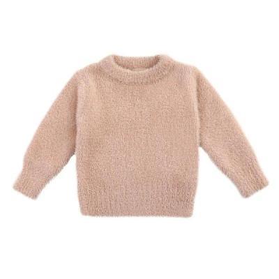 Girls' Sweaters Winter Wear Imitation Mink Kids Jacket Sweater