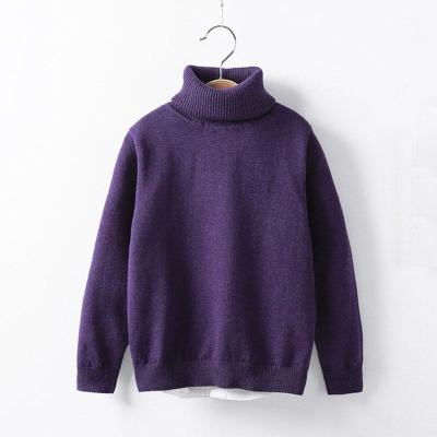 Baby Girls Winter Turtleneck Sweater Children Clothing Pullover Knitted Solid Sweaters