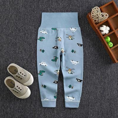 Baby Full Length Pants High Waist Cotton Toddler Kids Pencil Pants