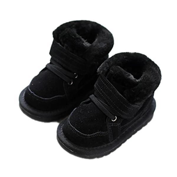 Winter Baby Snow Boots Boys Fashion Cute Velvet Padded Cotton Shoes