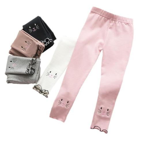 Cartoon Cat Kids Girls Cotton Leggings Casual Children's Pantyhose