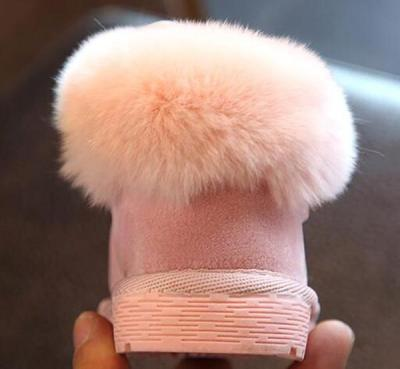 Girls Bunny Bow Ankle Boot Warm Fur Animal Boots