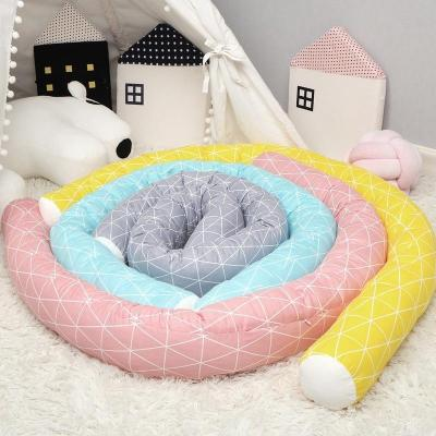 Long Pillow Children Bed Fence Baby Anticollision Pillows Bedside Soft Crib Bumper