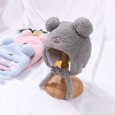 Cute Toddler Kids Bear Hat Baby Infant Winter Warm Fur Ear Hat
