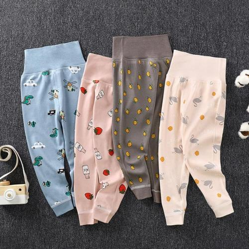 Baby Full Length Pants High Waist Cotton Toddler Kids Pencil Pants