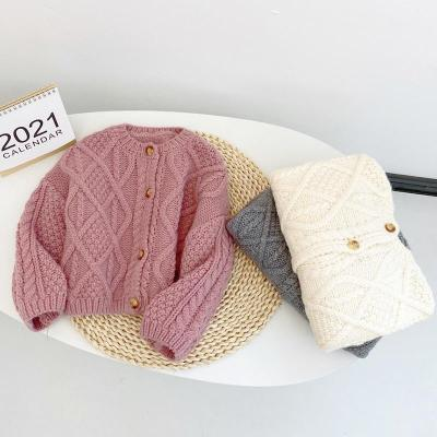 Baby Girls Clothes Cardigan Sweater Patchwork Kids Knitted Tops