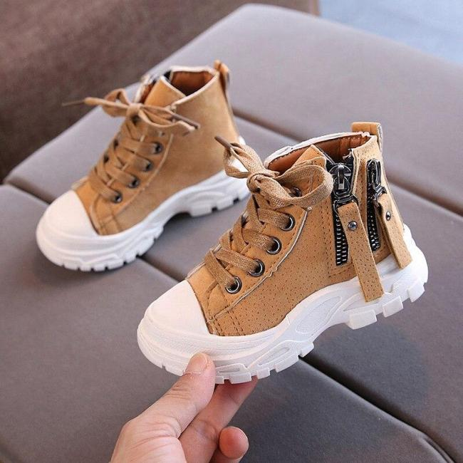 Fashion Shoes Boys Martin Boots Students Shoes