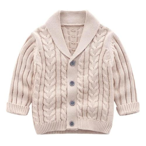 Boys Cardigan Children Coat Casual Baby School Kids Sweater Outerwear