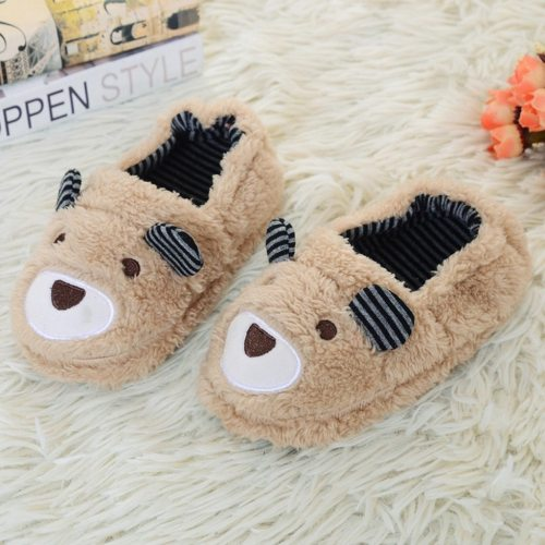 Fashion Baby Winter Slippers Kids Gilrs Super Soft Shoes Cartoon Home Non-Slip Slipper